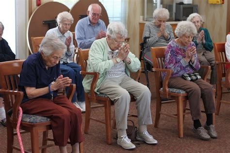 chair benefits southside seniors as they exercise