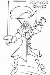 Hook Captain Coloring Pages Cartoon Colorings sketch template