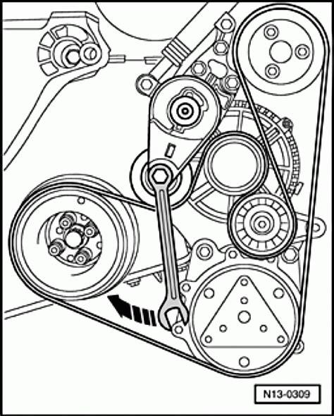 volkswagen beetle tdi 1 9l serpentine belt diagrams