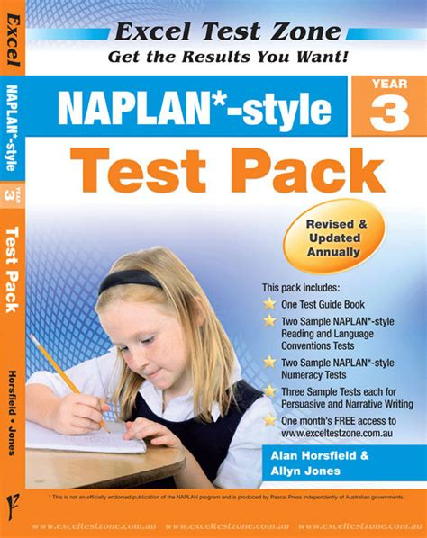 Excel Test Zone  Naplan*style Test Pack Year 3  Pascal Press Educational Resources And