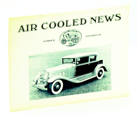 Air Cooled News Number 92 November Nov 1984 Vol