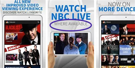 Nbc Now Streaming Live Via App, But Only In Certain