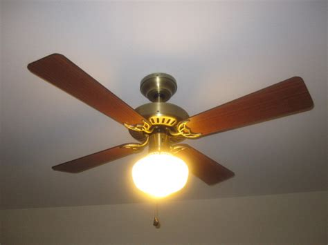 Vintage Ceiling Fan Install New Home