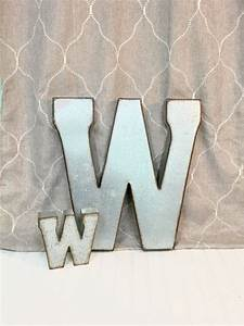 19 best large galvanized letters images on pinterest With 2 galvanized letters
