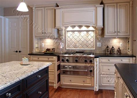 Glazed Kitchen Cabinets Vs White  Quality Of Custom