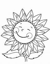 Sunflower Coloring Pages Happy Sunflowers Flower Flowers Drawing Van Gogh Sunny Getdrawings Simple Explore Craft Daisy Draw sketch template