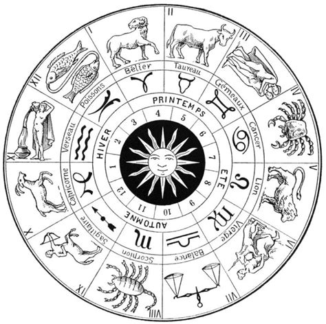 kleuren voor volwassenen astrologie coloring pages