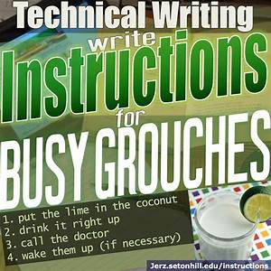 Instructions  How To Write Guides For Busy Grouches