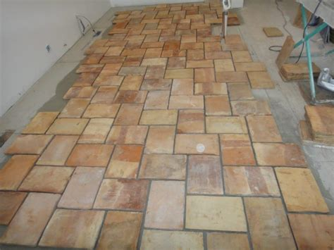 large reclaimed terracotta oak flooring