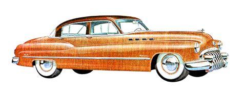 Vintage Car Image 1950 Buick Sedan Clip Art