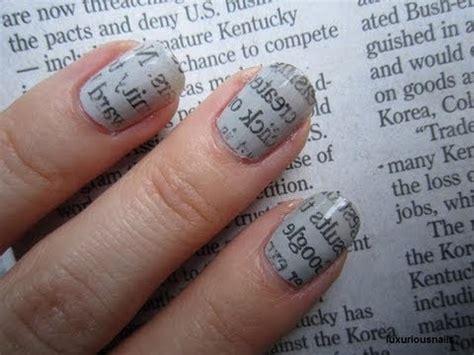 newspaper print nail art tutorial youtube