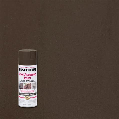 rust oleum stops rust  oz weathered wood roof accessory