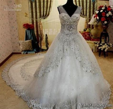ball gown wedding dresses with sleeves and bling 2016 2017