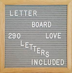 10x10 grey felt letter board oak frame letter board love With grey felt letter board