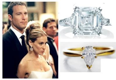 carrie bradshaw engagement ring fictional diamonds are a 39 s best friend