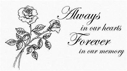 Always Sympathy Hearts Memory Card Clipart Quotes