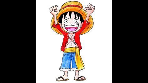 How To Draw One Piece Chibi Luffy