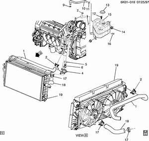 2004 Cadillac Deville Base 4dr Hose  Engine Coolant