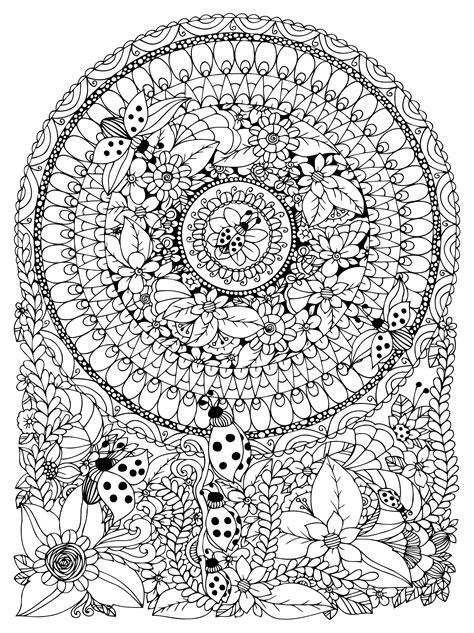 mandala fleurs coccinelles mandalas difficiles pour