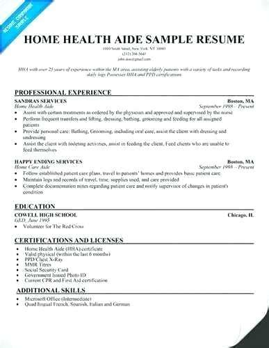 home health care resume foodcity me