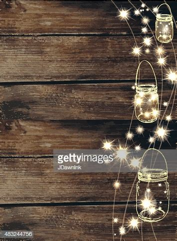 wooden background  jar  string lights high res