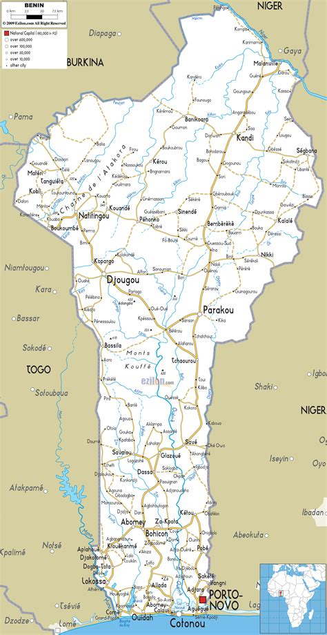 Detailed Clear Large Road Map of Benin - Ezilon Maps