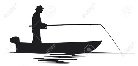Fishing Boat Silhouette by Fishing Boat Silhouette Clip 18780899 Fisherman In A