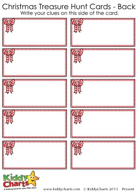 scavenger hunt christmas templates festival collections