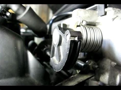 removing throttle cable  throttle body youtube