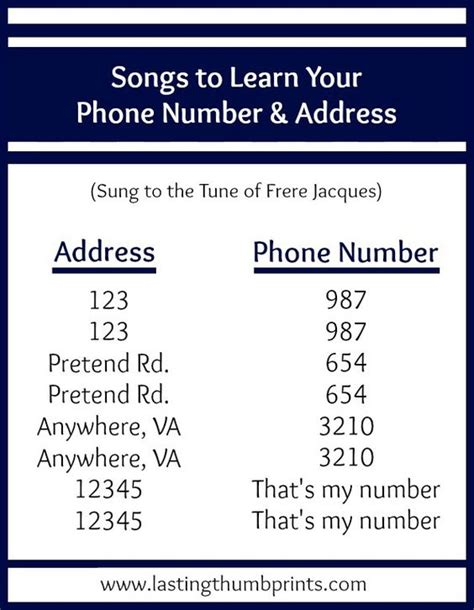 phone number song 8 ways to teach children their address and phone number