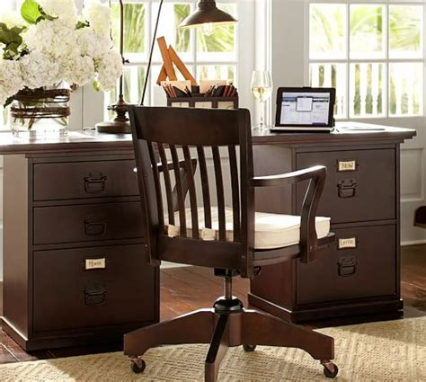 bedford rectangular desk pottery barn
