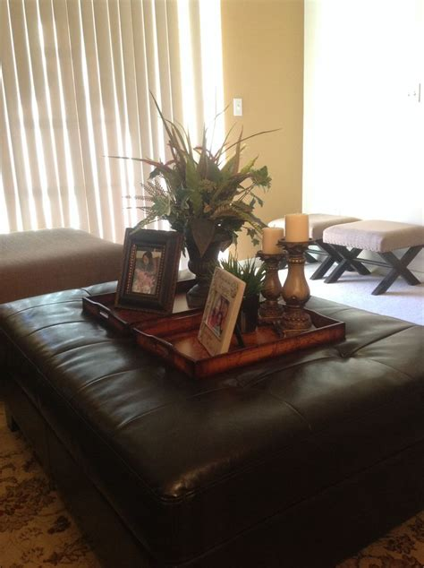 Ottoman Tray Decor Very Beautifully Done Sis Home