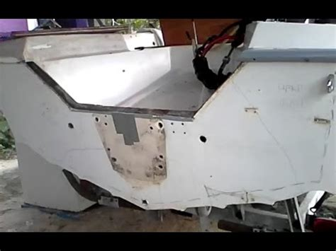 Boat Transom Replacement Cost by How To Remove Fiberglass Boat Transom Rotted Plywood Board