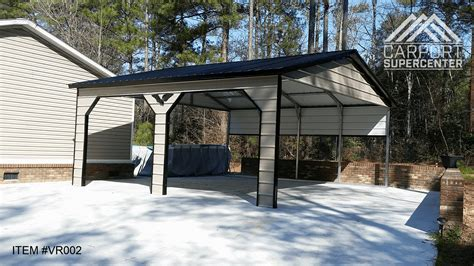 metal carports for 20 x21 x9 vertical roof side entry carport