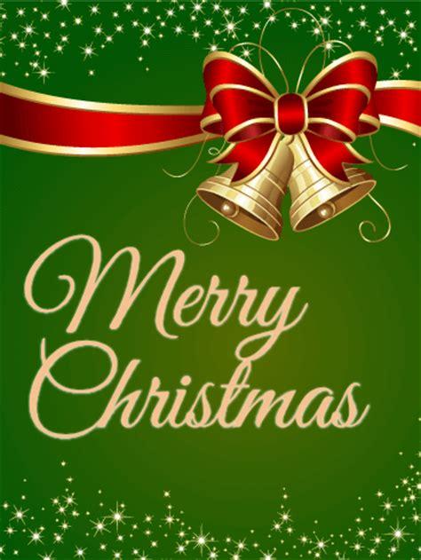 sparkling green christmas card birthday greeting cards