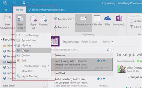 Office 365 Outlook New Features by Quadra Microsoft S Answer To Whatsapp Outlook 2016 Groups