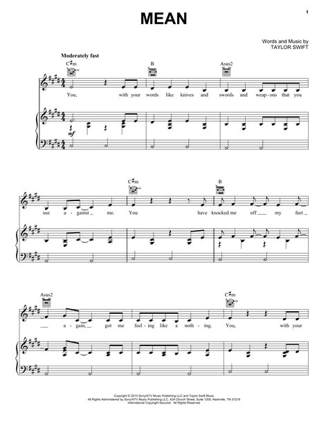 kiss taylor swift piano sheet