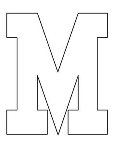 big letter m letter n pattern use the printable outline for crafts 20607 | c04137f7abcbdbc0be30ea1a730385a5