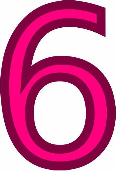 Pink Clip Number Clker Clipart Cliparts Svg