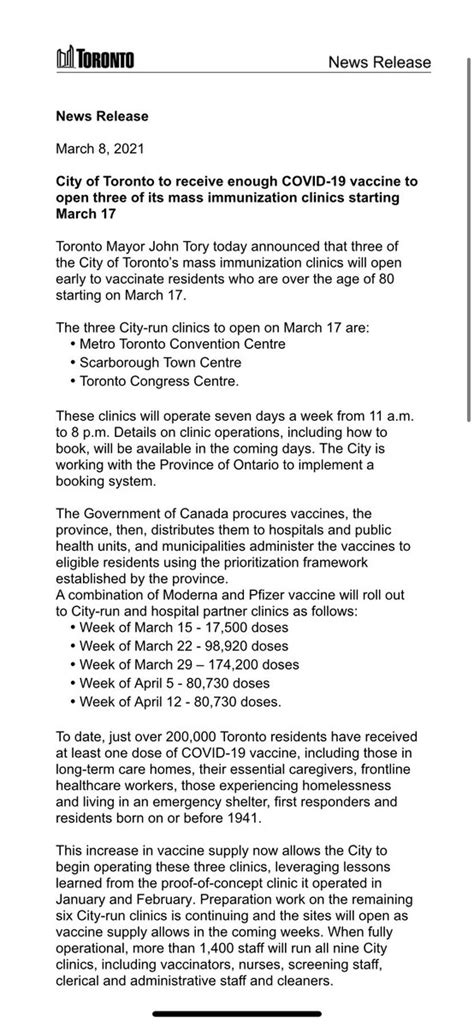 July 26 to august 1; Book Vaccine Toronto Convention Centre : Mass Coronavirus Vaccination Clinic At Toronto ...