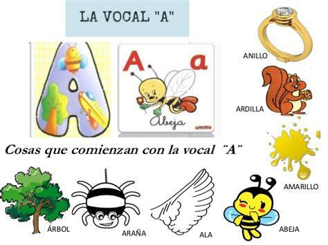 figuras que comienzen con la vocal a las vocales