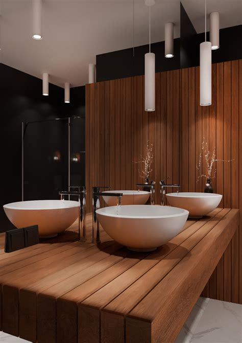 black wood bathroom  behance