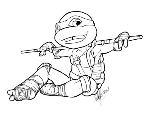 ninja turtles donatello coloring sheets coloring pages