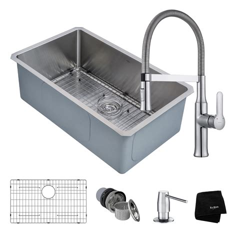 kitchen sink combo stainless steel kitchen sink combination kraususa