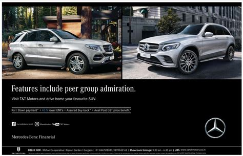 mercedes ads mercedes benz car features includes peer group admiration
