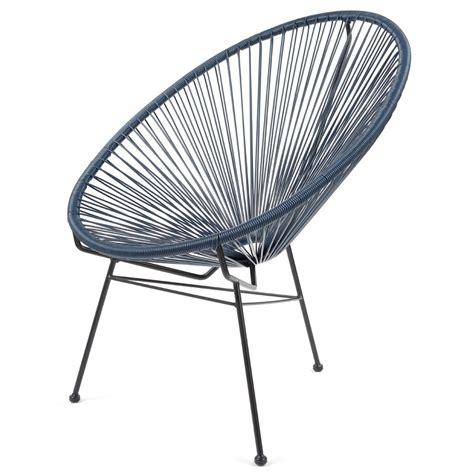 acapulco chaise fauteuil acapulco bleu nuit