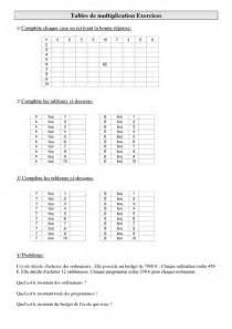 tables de multiplication cm1 exercices calculs cycle 3 pass education