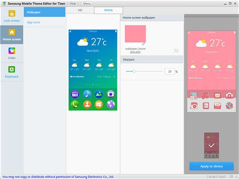 Download Samsung Tizen Theme Editor for Windows PC