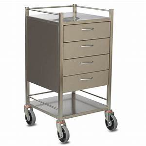 Sq Series Dressing Trolley - 4 Drawer