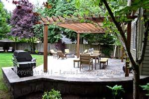 Pergola and Paver Patio with Fire Pit